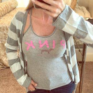PINK by Victoria Secret Grey Dog Tank Top XS/S